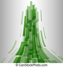 Abstract green elements technology background