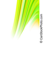 abstract green energy twirl - digitally composed abstract...