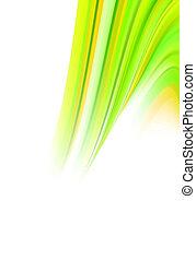 abstract green energy twirl