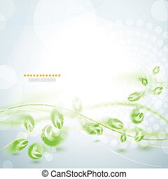Abstract green feather background