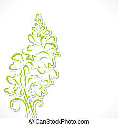 Abstract green flower background
