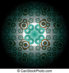 Abstract green fractal