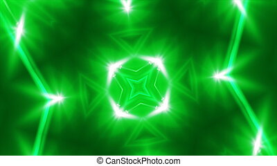 Abstract green fractal lights, 3d rendering backdrop, computer generating