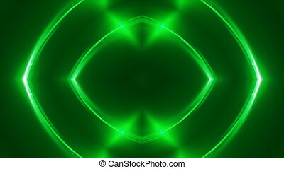Abstract green fractal lights, 3d rendering backdrop,...