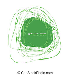 Abstract green frame - Hand drawn abstract frame with place...