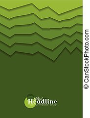 Abstract green gradient tech corporate background