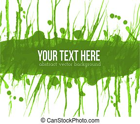 Abstract green grunge background with place for your text. Vector illustration.