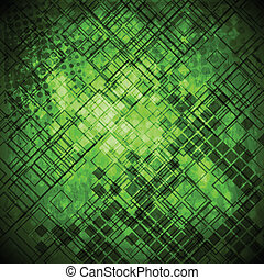 Abstract green grunge technical background