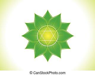 abstract green heart chakra.eps