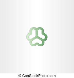 abstract green heart circle business logo