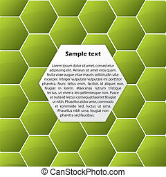 Abstract green hexagon background
