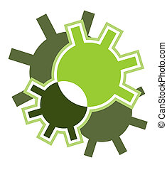 Abstract green icon