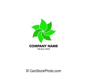 Abstract green leaf logo icon vector design