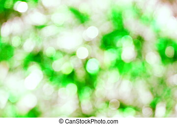 Abstract Green light bokeh background
