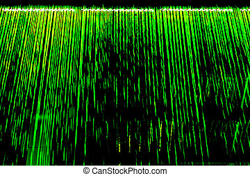 Abstract green light lines