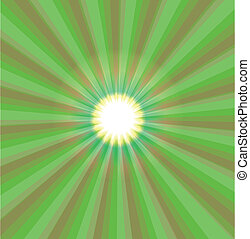 Abstract green light vector