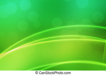 Abstract Green Light Waves Backdrop