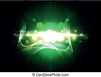 Abstract green lighting vector