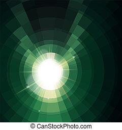 Abstract green lightning