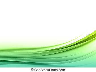 green lines - abstract green lines on the white background