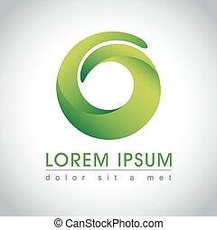 Abstract green logo
