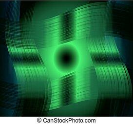 Abstract green metal wavy backgroun