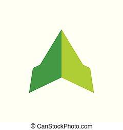 abstract green mountain logo vector