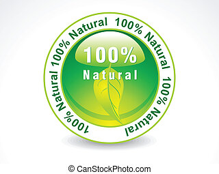 abstract green nature stamp vector