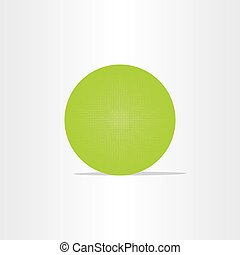 abstract green net globe circle