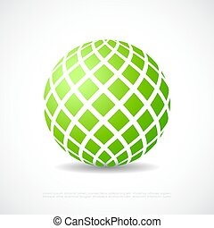 Abstract green orb icon - Abstract green orb vector icon