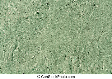 Abstract green plaster wall texture.