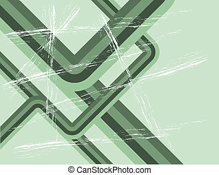 Abstract Green Retro grunge Background