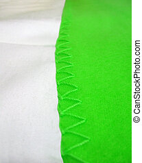 abstract green seam edging, textile details