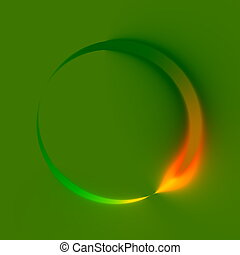 Abstract Green Spinner. Direction. - Abstract Green Spinner....