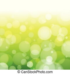 abstract green spring blur background vector illustration