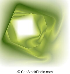 Abstract green square background