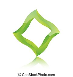 Abstract green square icon