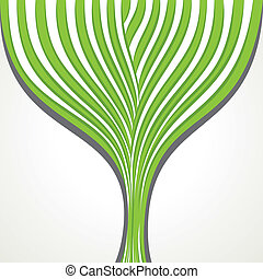 abstract green strip tree