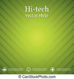Abstract green striped background. Vector design