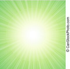Abstract Green Sunshine Background