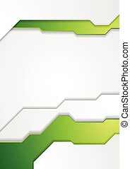 Abstract green tech corporate flyer background