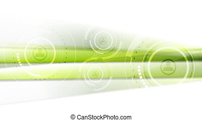 Abstract green tech futuristic video animation