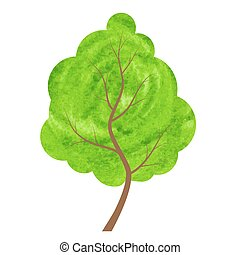 Abstract green tree on a white background.