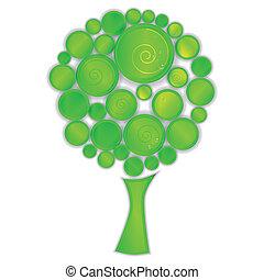 Abstract green tree symbol