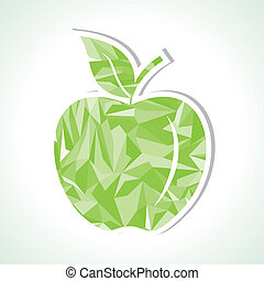 Abstract green triangle apple,vect