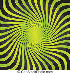 Abstract green twirl combined with black background