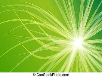Abstract Green Twisted Star Background Wallpaper