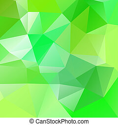 Abstract green vector background of triangles