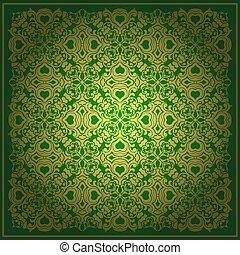 Abstract green vector baroque background