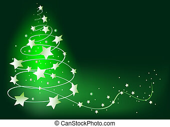 abstract green vector christmas tree